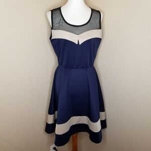Navy & Tan Sailor Dress
